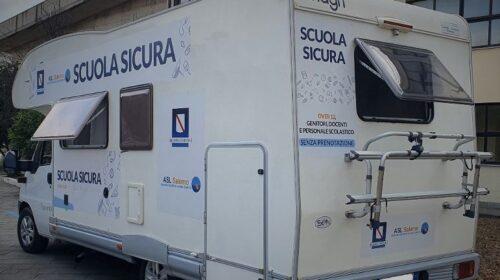 """A Campagna venerdìnuova tappa dell'unità mobile vaccinale dell'Asl Salerno nell'ambito del progetto """" Scuole Sicure """""""