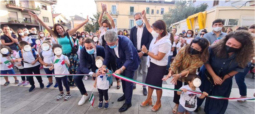 CAVA DE' TIRRENI, PASSIANO IN FESTA PER LA RIAPERTURA DELLA SCUOLA