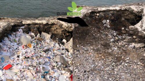 Voglio un mondo pulito raccoglie in spiaggia a Salerno 20 kg di gratta e vinci