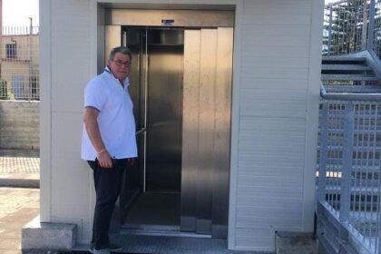 Scafati, torna a funzionare l'ascensore alla Passerella Ferroviaria di via Pizzone Salice