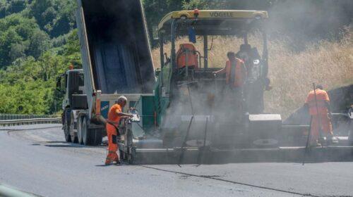 Strada Provinciale 44, a Caggiano i lavori di rifacimento pavimentazione