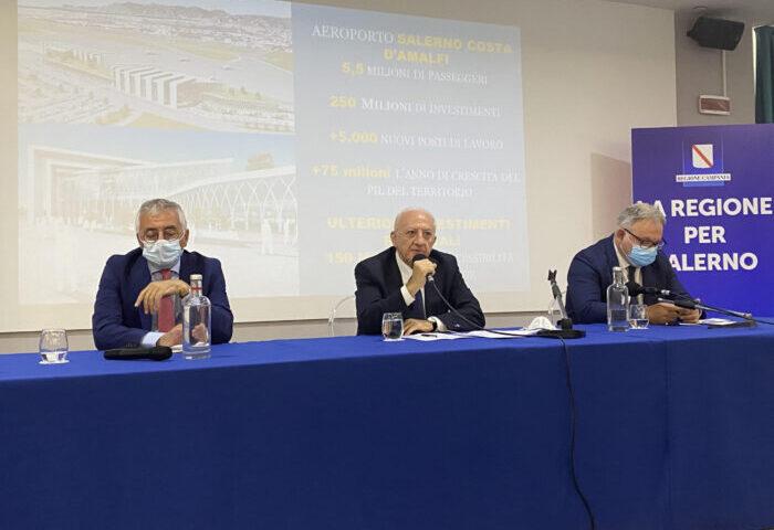 """Salerno, """"Un miliardo e mezzo di investimenti"""""""