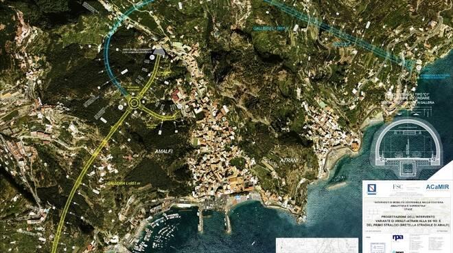 """""""Variante di Amalfi – Atrani"""" alla SS163: convocata la Conferenza dei Servizi sul progetto preliminare"""
