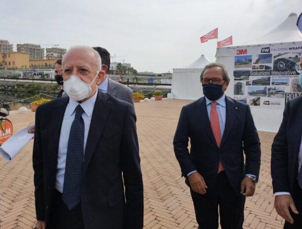 """De Luca: """"Il Salone della Nautica al Marina d'Arechi si candida ad essere gemello a quello di Genova"""""""