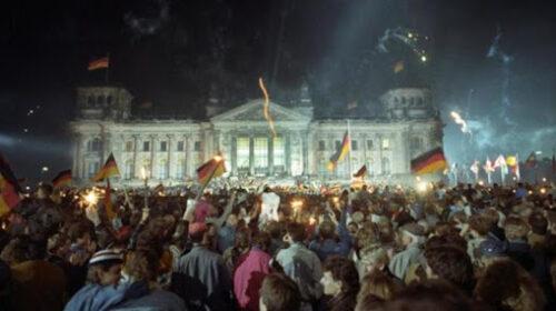 Il 3 ottobre del 1990 riunificata la Germania divisa dopo il secondo conflitto