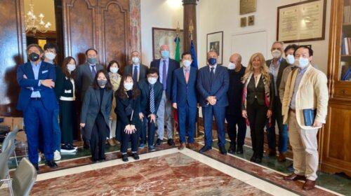 Salerno, a Palazzo sant'Agostino la delegazione coreana della città Namyangju