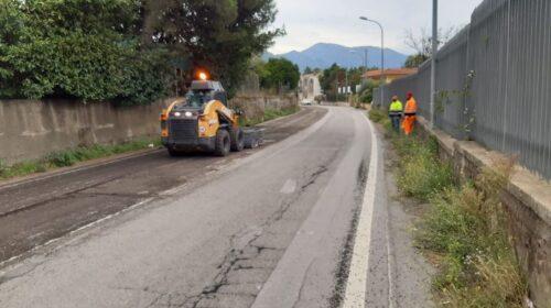 Sinergia tra Comune di Nocera Inferiore e Provincia, proseguono i lavori di riqualificazione sulle strade provinciali cittadine