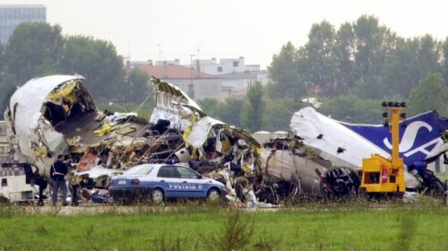 L'8 ottobre di 20 anni fa lo strage di Linate con 118 morti