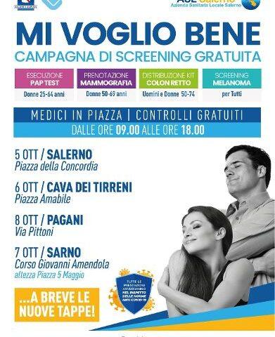 MI VOGLIO BENE, parte martedì la campagna di screening oncologici gratuiti dell'Asl Salerno